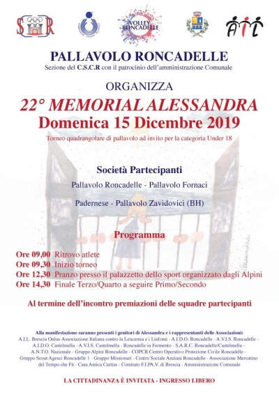 MEMORIAL ALESSANDRA 2019